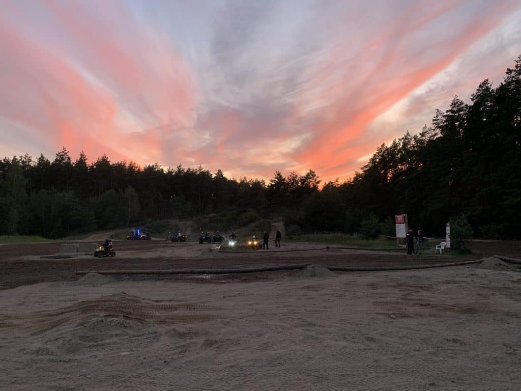 Sonnenuntergang Offroadpark Peckfitz